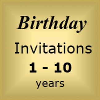 Invites Birthday : Age 1-10