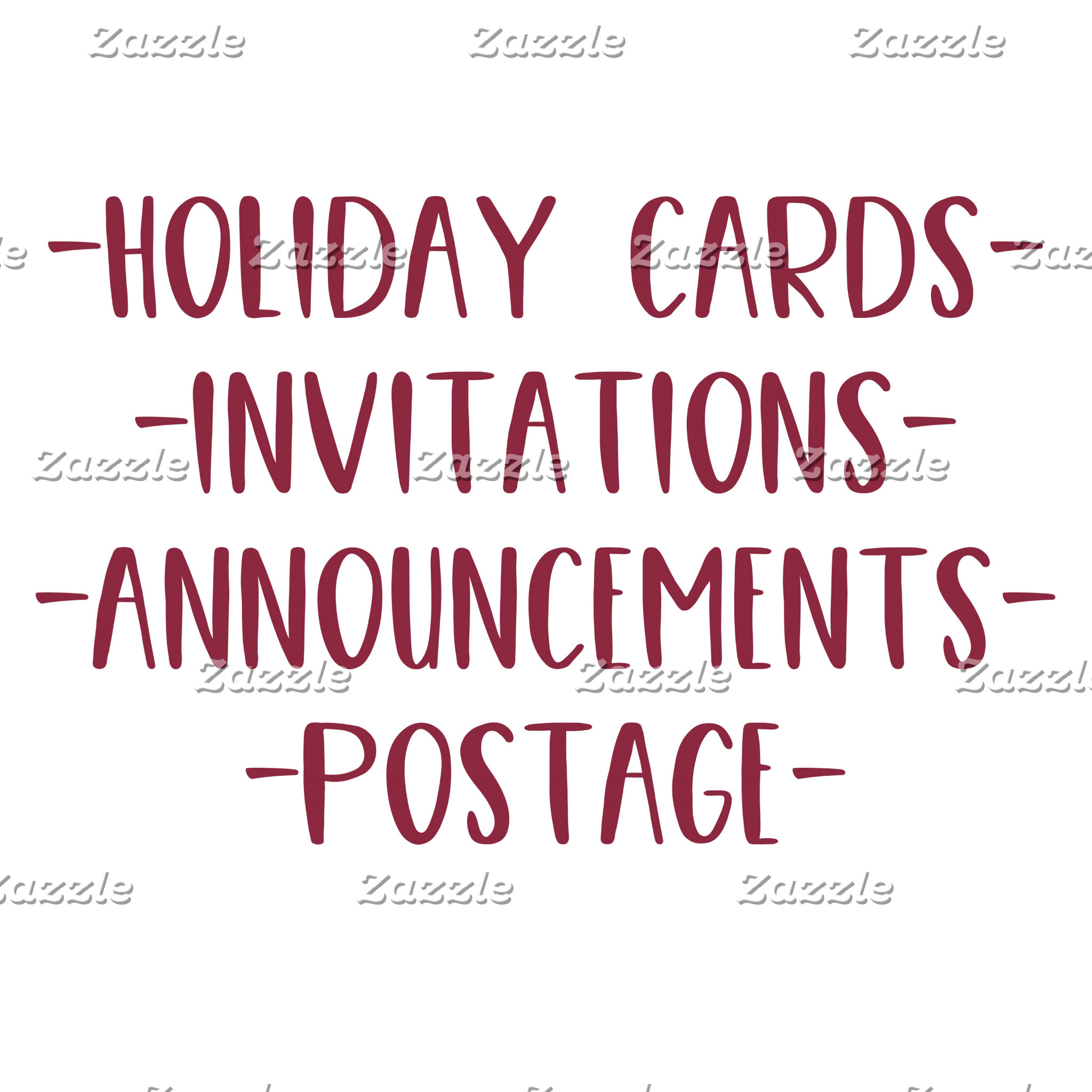 Holiday Cards and Postage