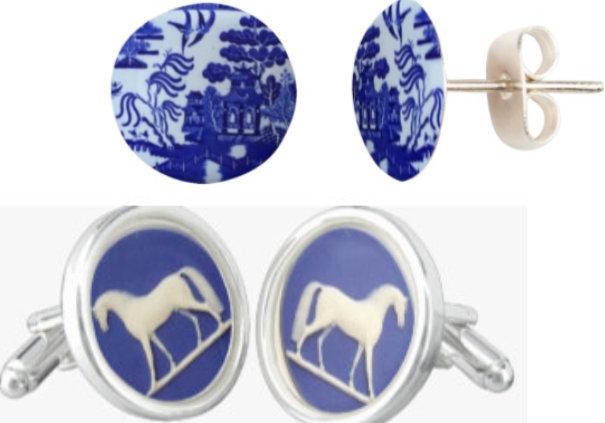 Earrings, Cuff links, Pins