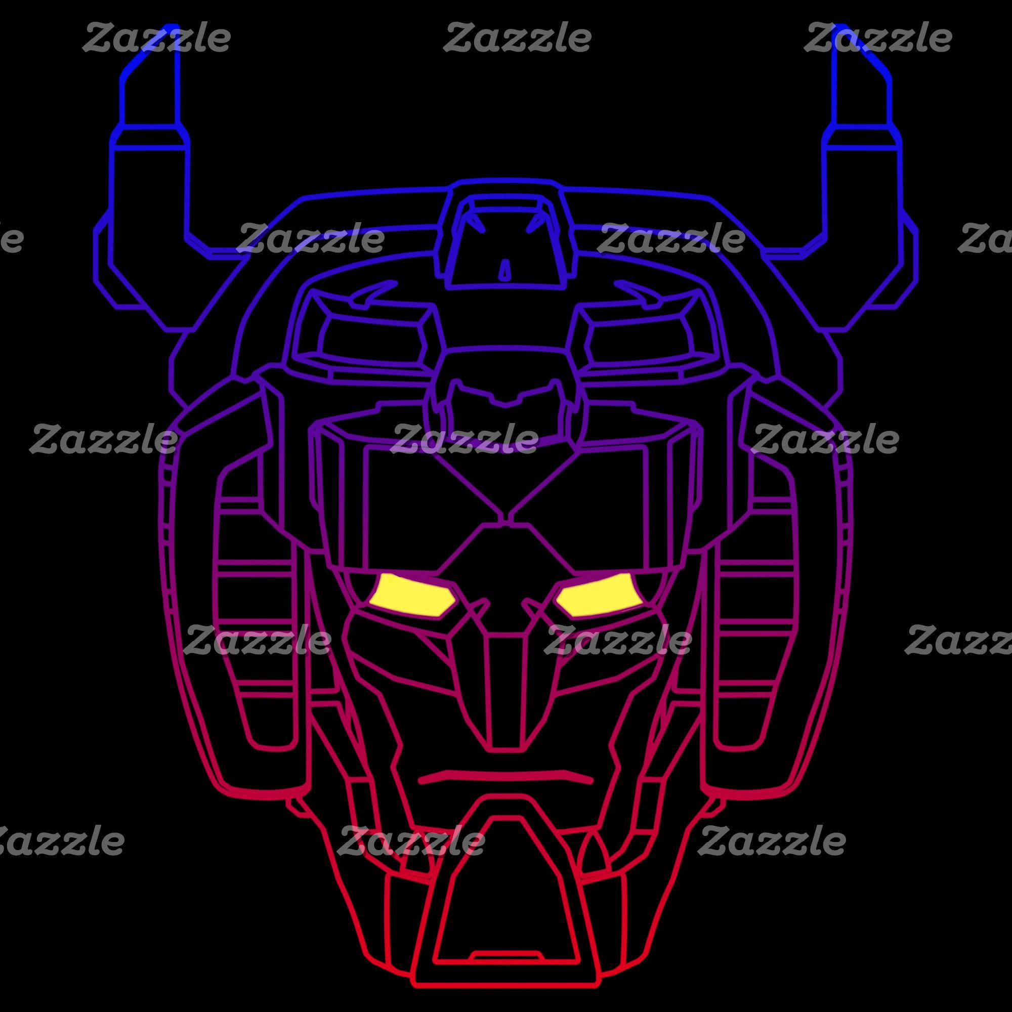 Voltron   Blue-Red Gradient Head Outline