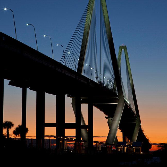 Arthur Ravenel Jr. Bridge at Dusk