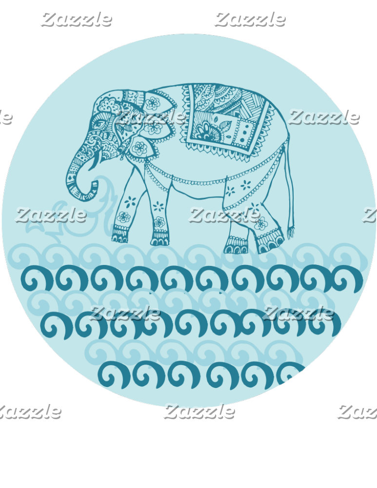 Blue Indian Elephant
