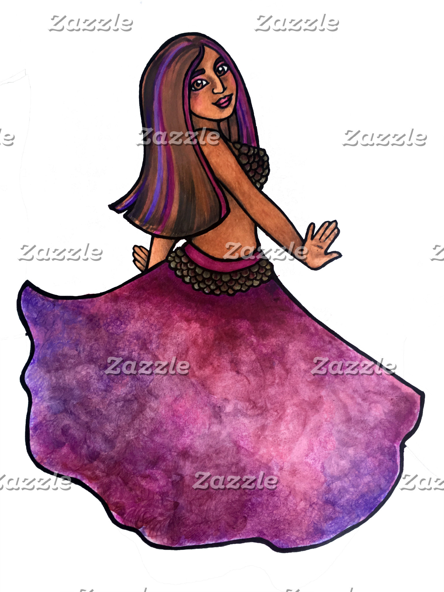 Purple belly dancer