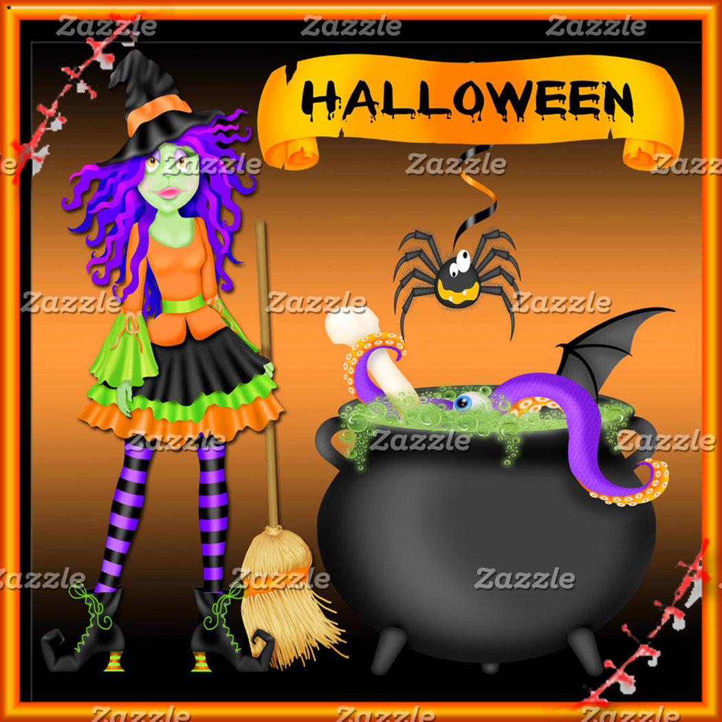 Trendy Halloween Witch Cauldron