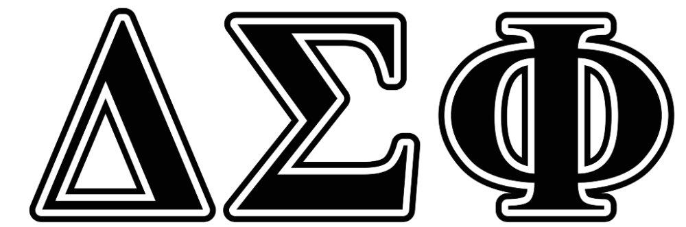 Delta Sigma Phi Black Letters