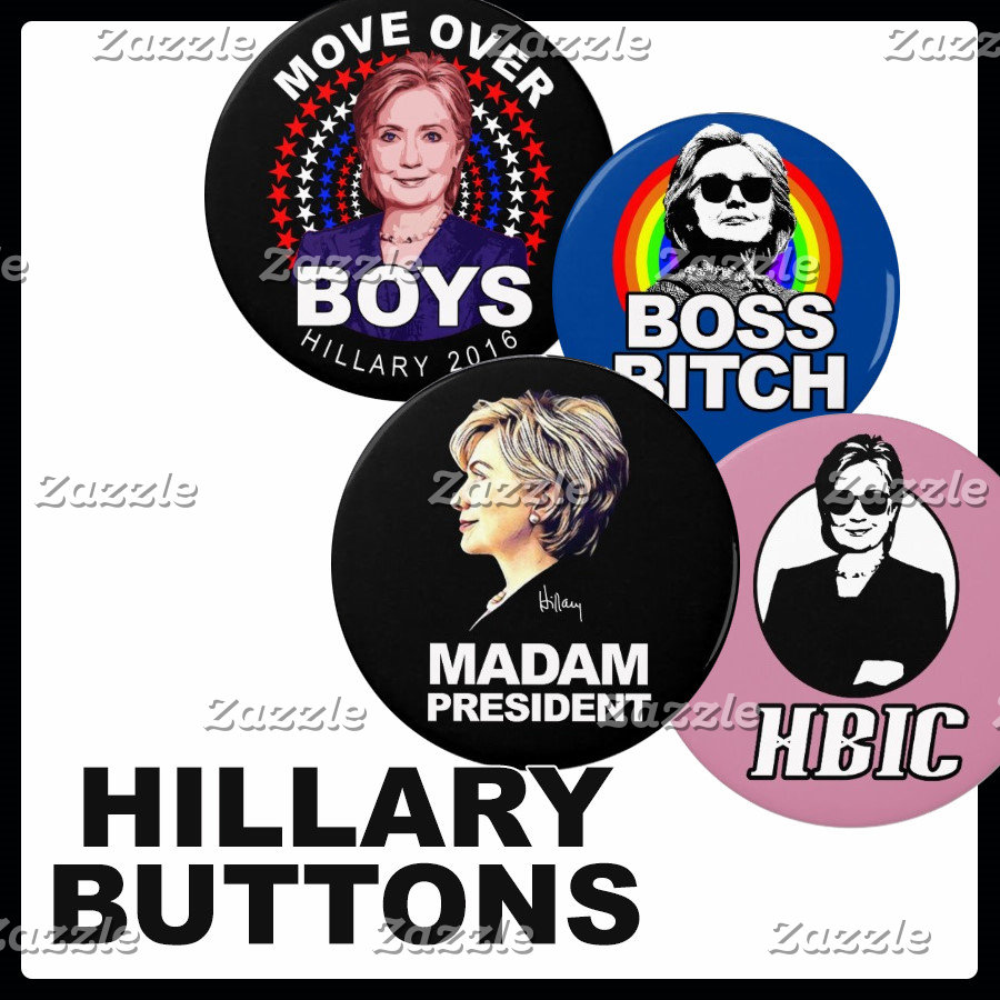 Hillary Buttons