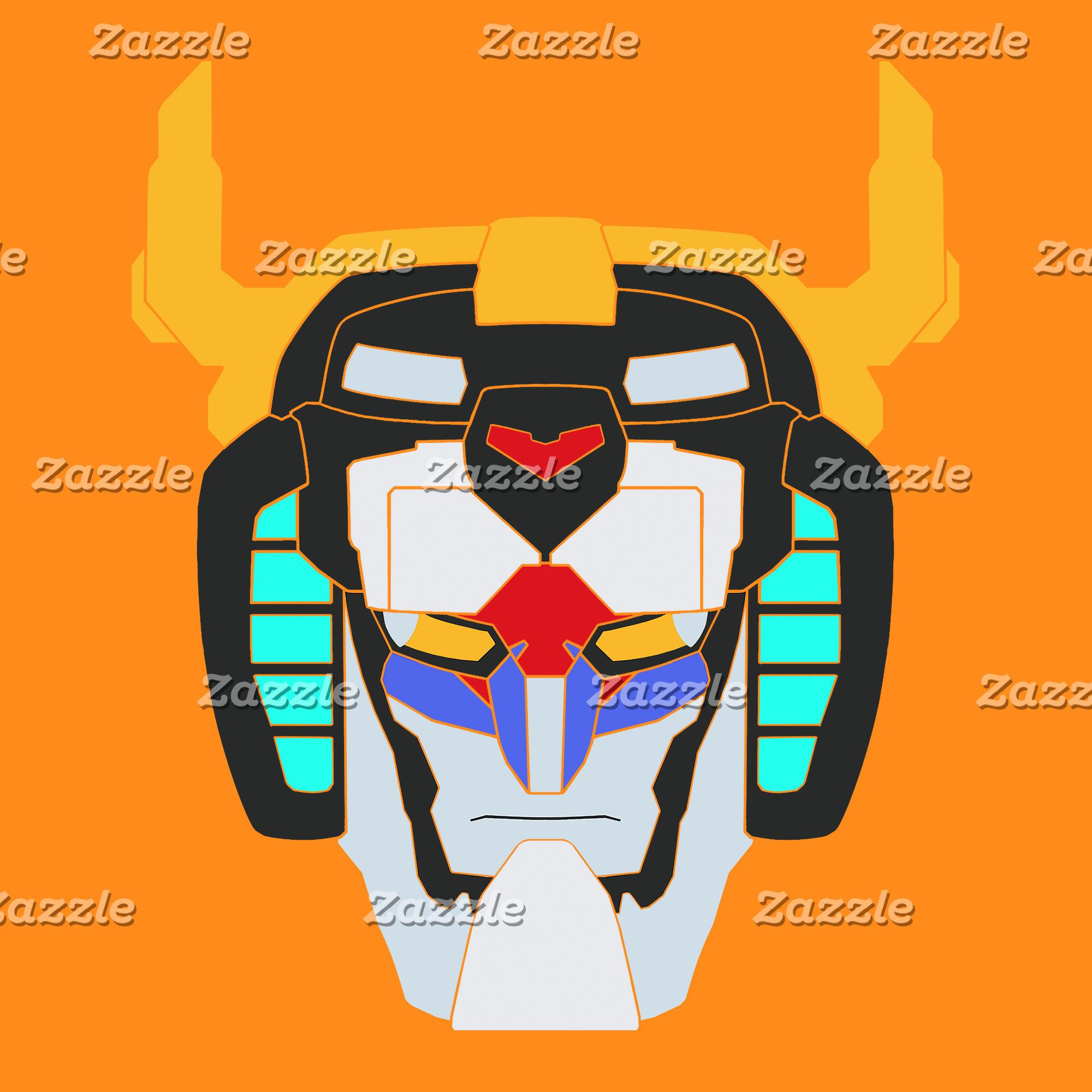 Voltron   Colored Voltron Head Graphic