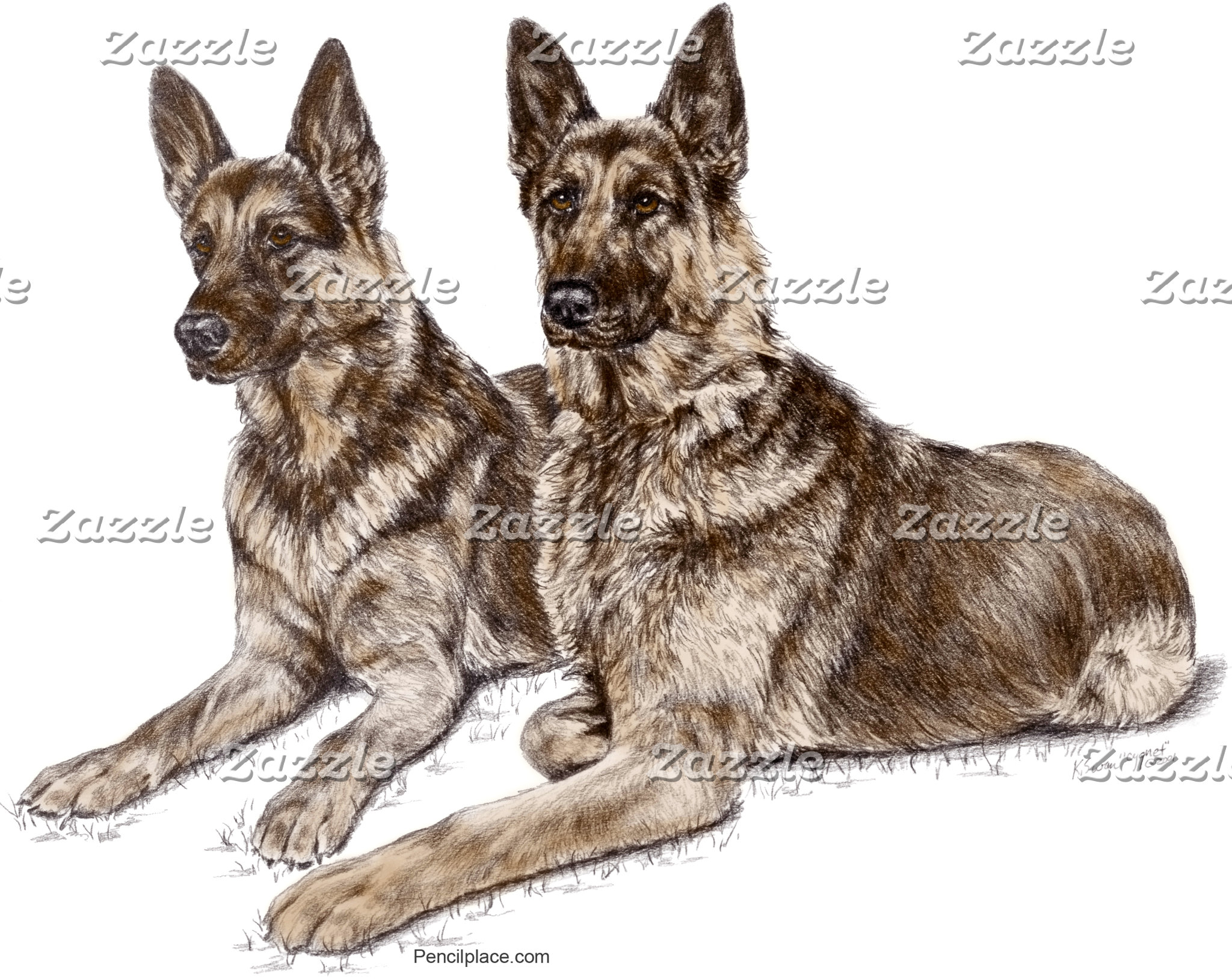 German Shepherd Dog Art