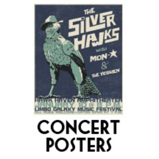 1980s cartoon concert posters