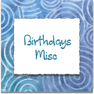 BIRTHDAY MISC