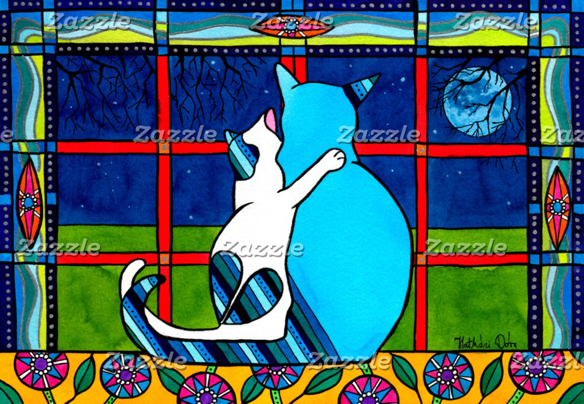 Cat Art - Love You Mom