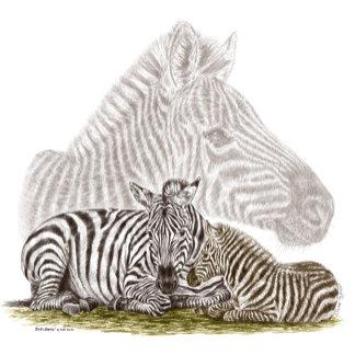 Zebra Mom and Baby Art