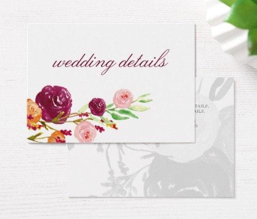 Wedding Enclosure Cards