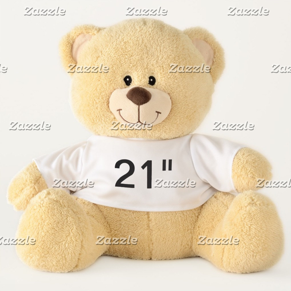 """21"""" Teddy Bears - Showing All Favorite Fonts"""