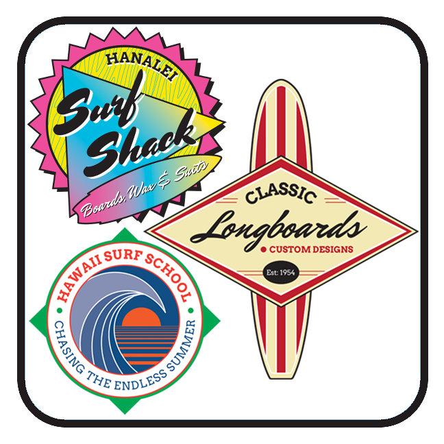 Vintage Surfing Logos