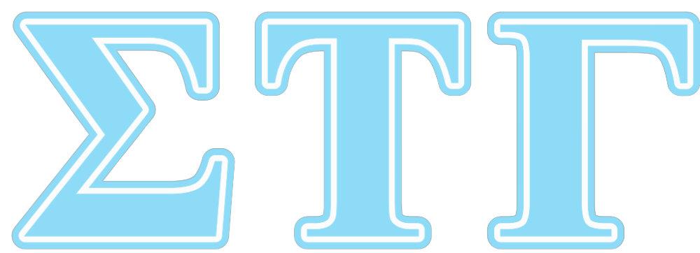 Sigma Tau Gamma Blue Letters