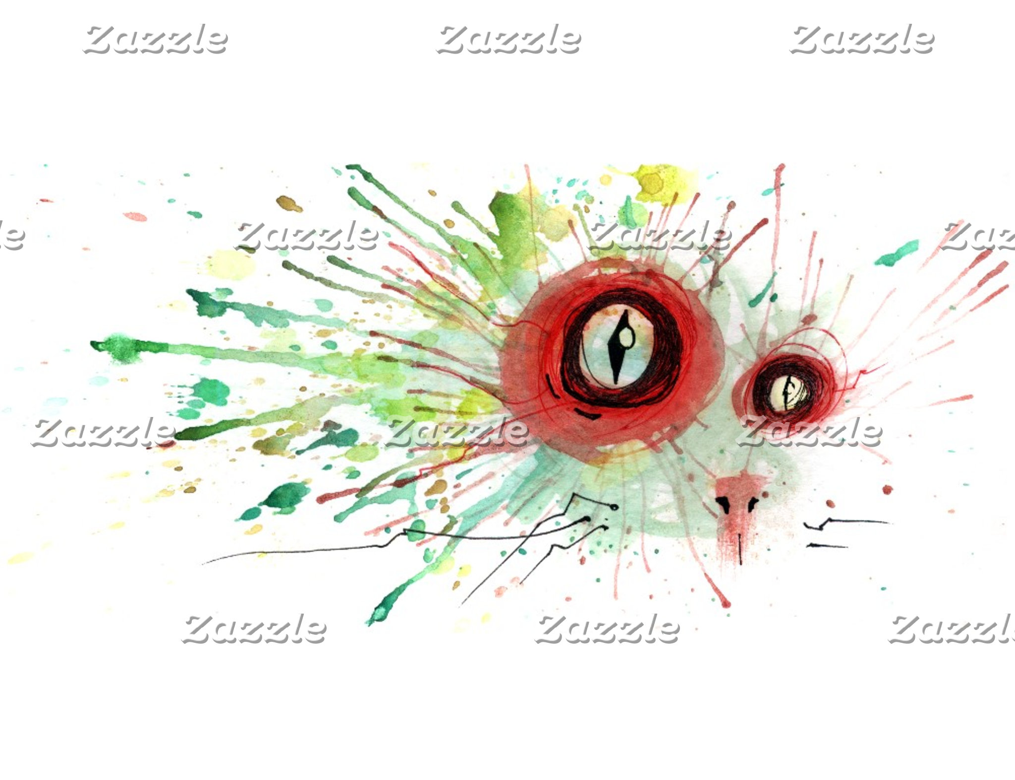 zombie splatter cat