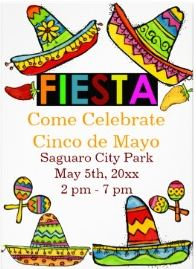 Mexican Fiesta and Cinco de Mayo Invitations