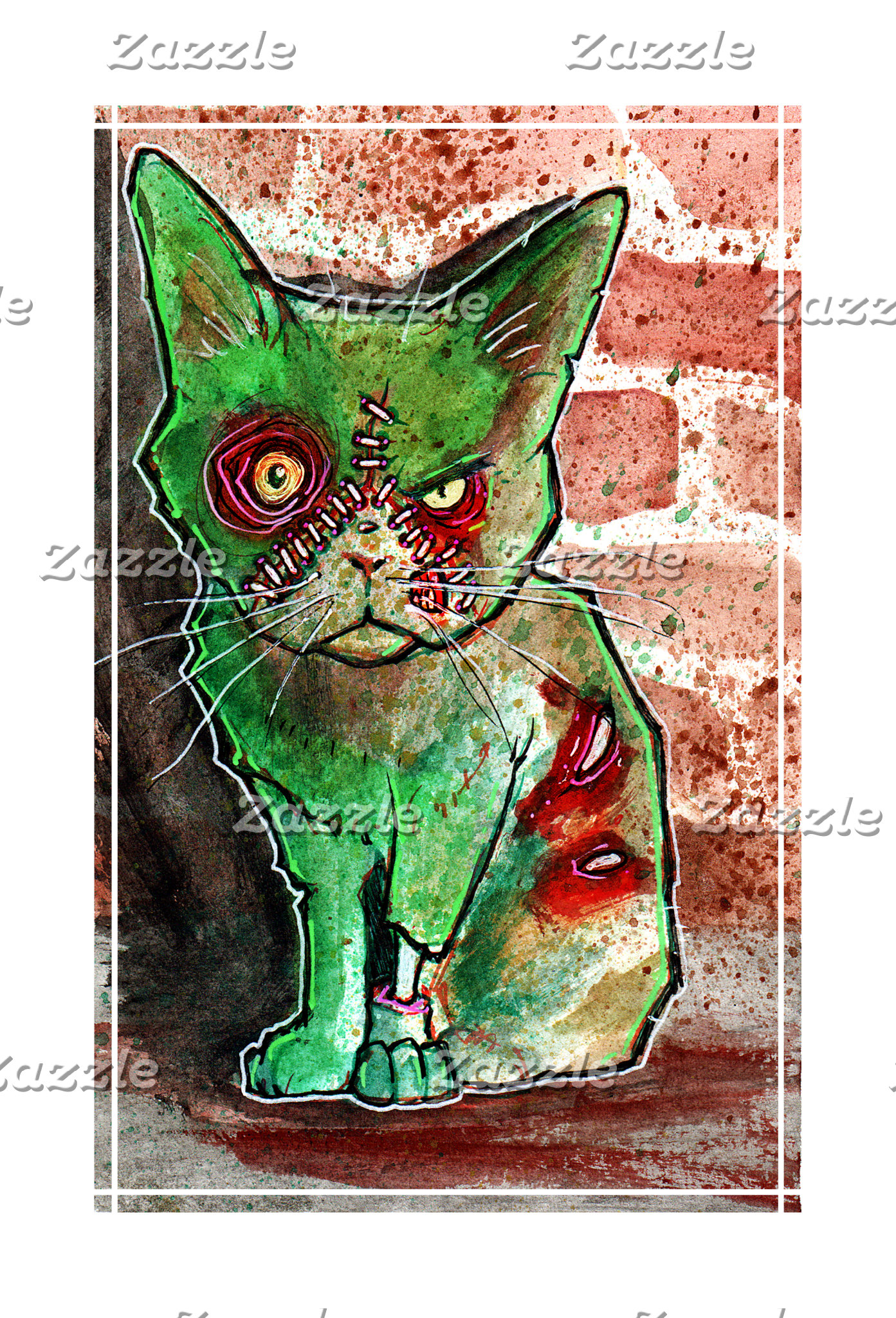 Mean Green Zombie Cat