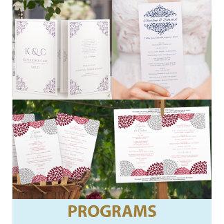 Ceremony Programs