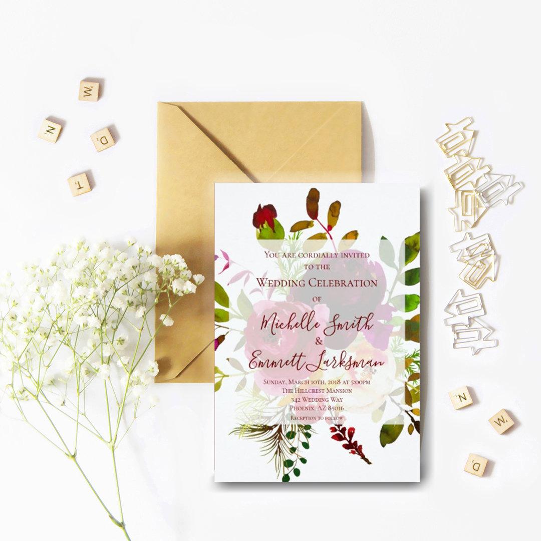 Marsala Burgundy Floral Boho Set