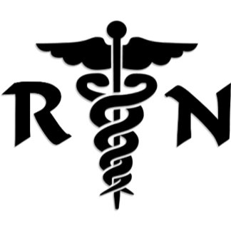 An RN Nurse Medical Symbol