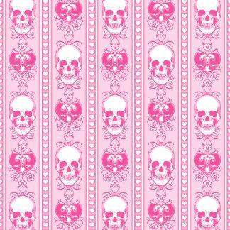 Baroque Skull Stripe Pattern Pink