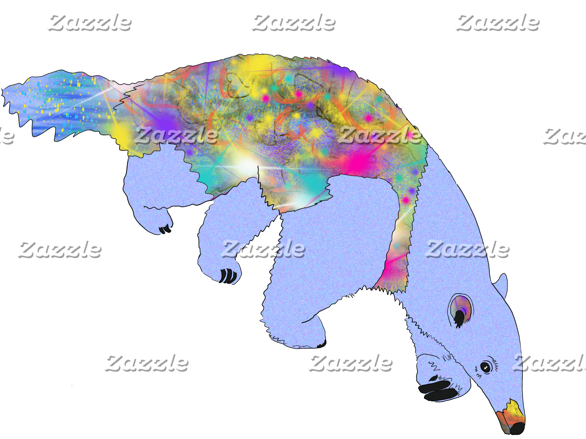 Anteaters Psychedelic Animal Art