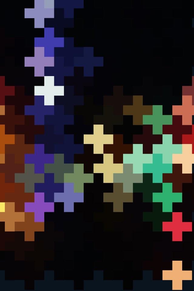 Geometric art | blue and gold crosses