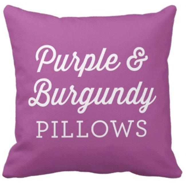 Purple and Burgundy