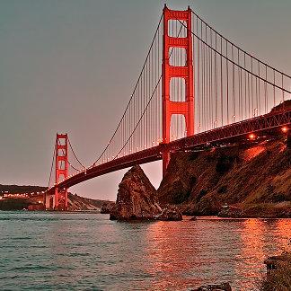 Golden Gate Bridge at Sun Down