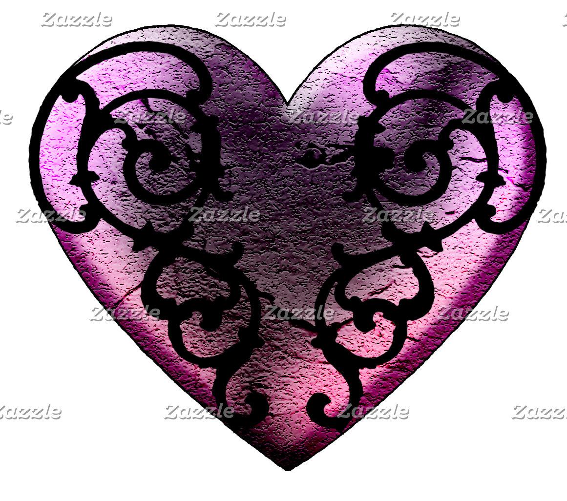 Filigree Goth Hearts