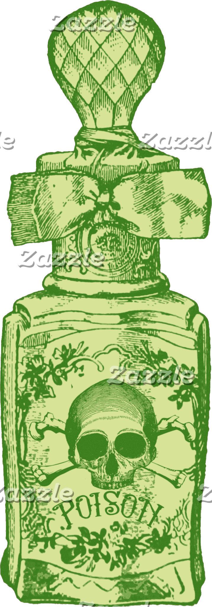 Pretty Green Poison Bottle