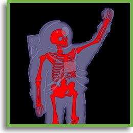 Skeletal Astronaut