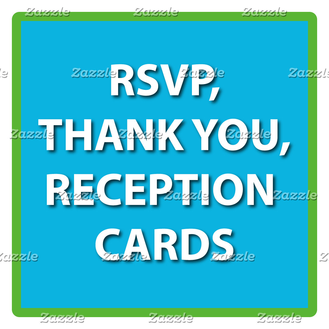 Matching Mitzvah RSVP, Reception,  Thank You Cards