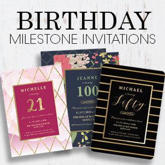 Milestone Birthday Invitations
