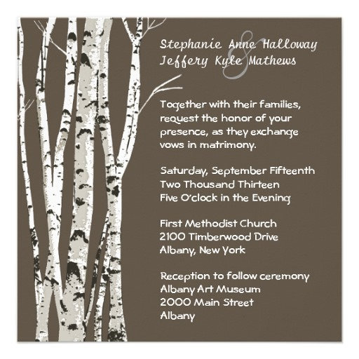 Fall Wedding Birch Trees