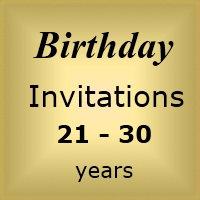 Invites Birthday : Age 21-30