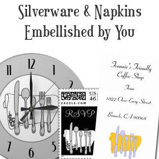 Restaurant Silverware Set Custom Designs
