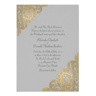 Chic Gray and Gold Wedding Set