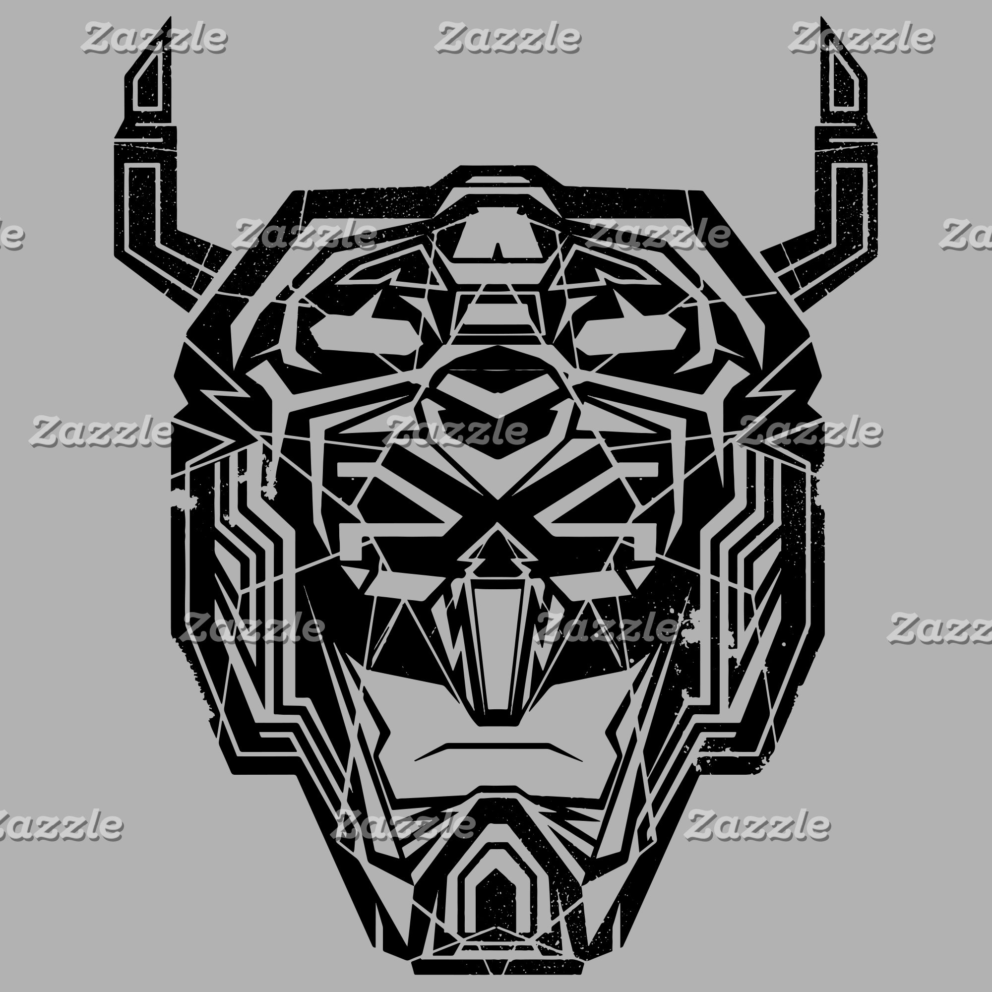 Voltron   Voltron Head Fractured Outline