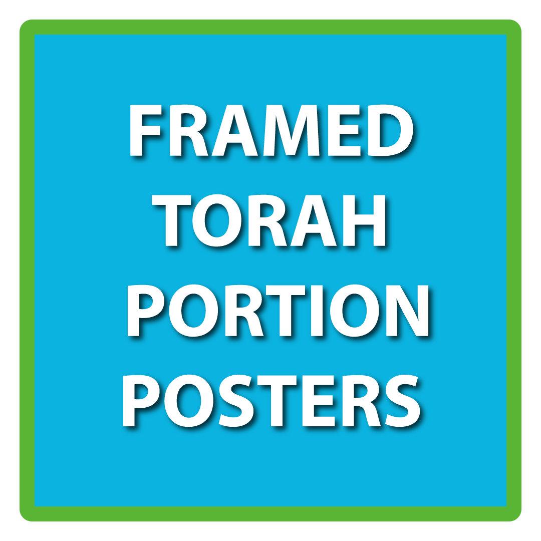 Framed Torah Portion Posters