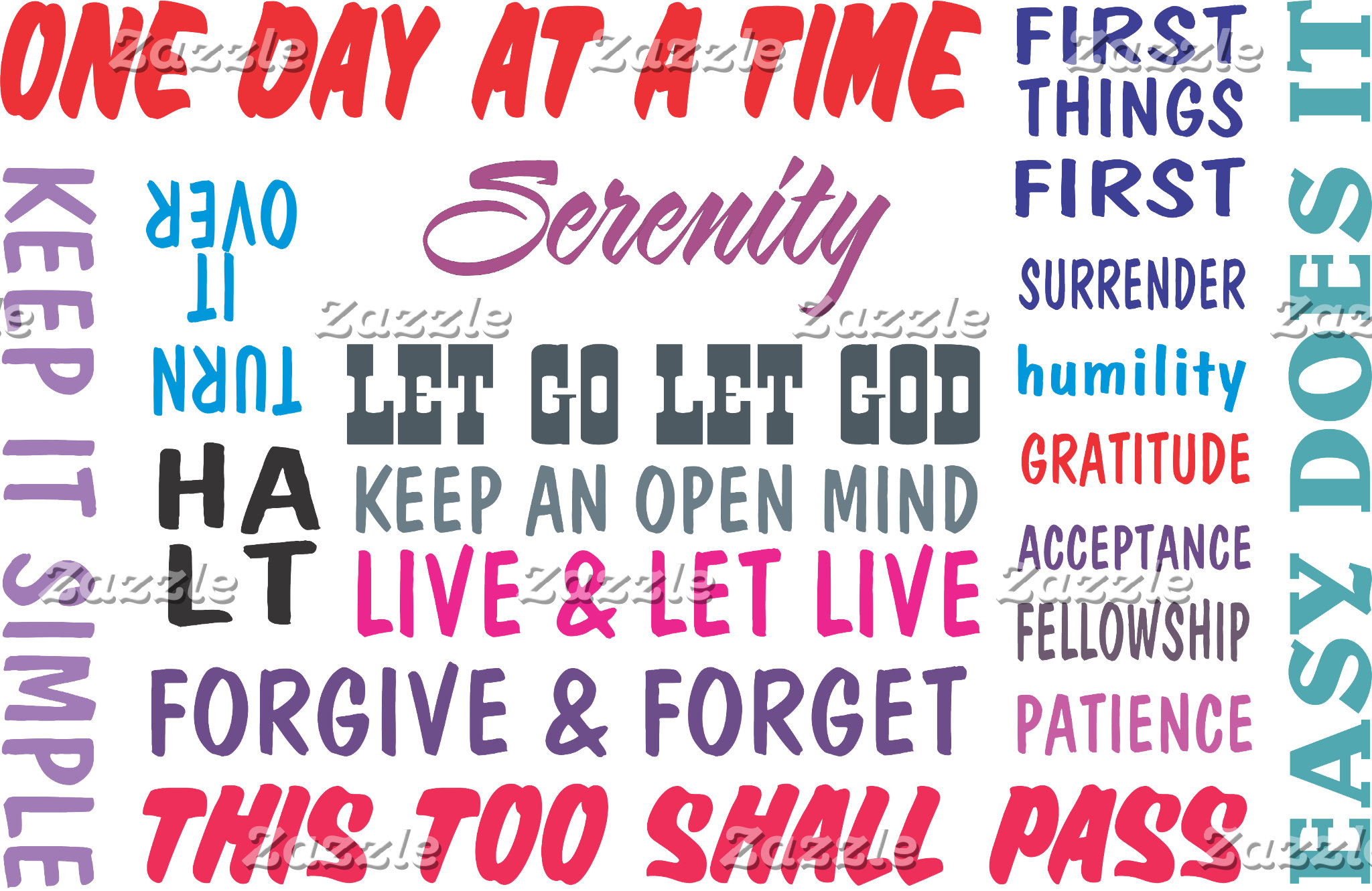 12 step recovery slogans