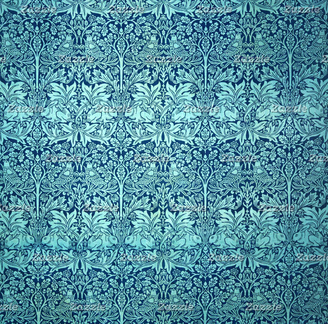William Morris Brother Rabbit Pattern in Blue