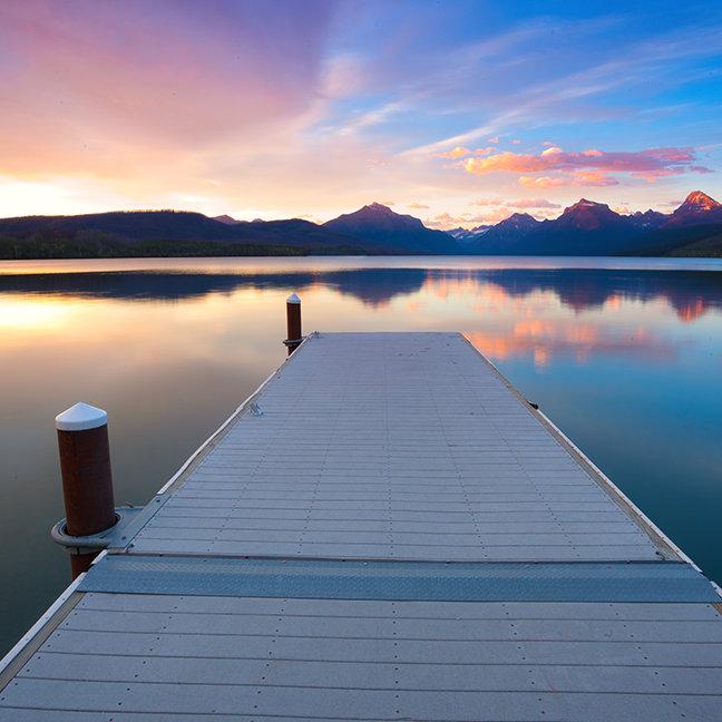 Boat Dock Lake McDonald