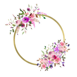 Floral Wreath Monogram Designs