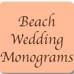 Beach Wedding Monograms
