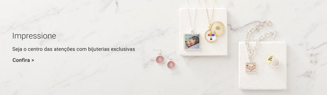 Bijuterias personalizáveis na Zazzle