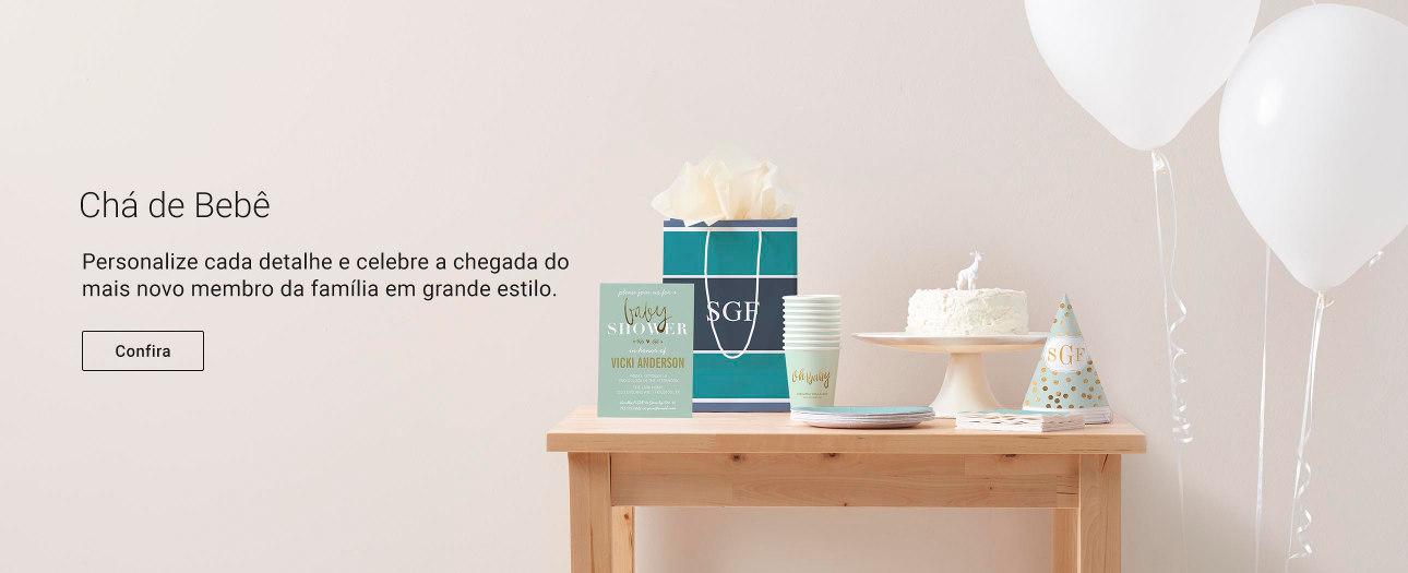 Encontre produtos para chás de bebê completeamente personalizáveis na Zazzle!