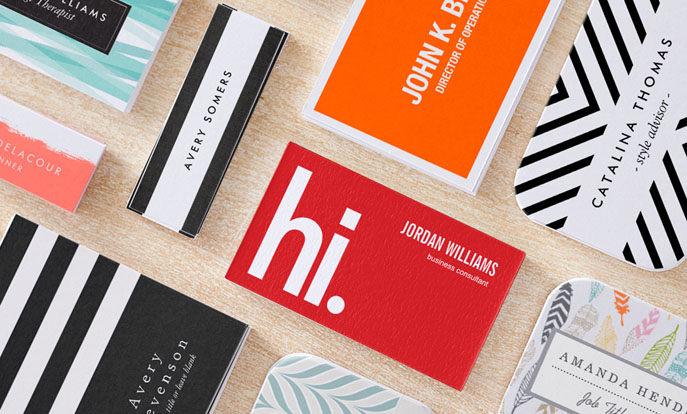 Modelos de cartões de visita mais populares
